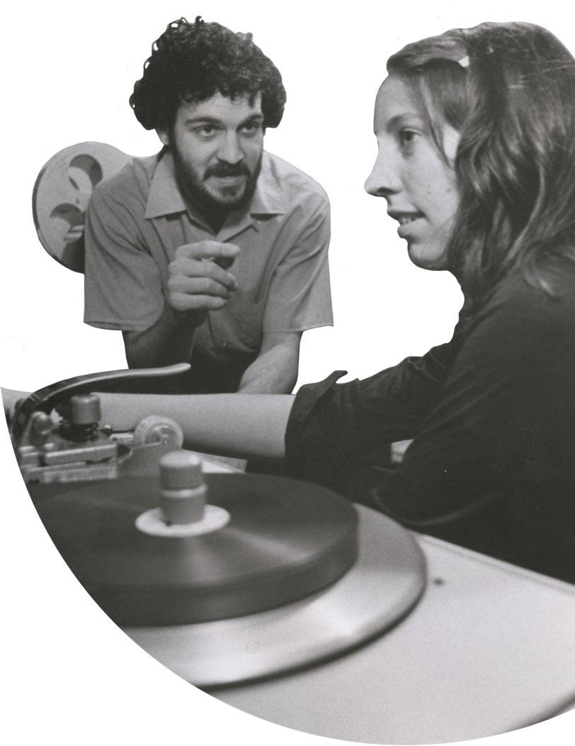 Appalshop filmmakers Herb E. Smith and Elizabeth Barret ca 1974